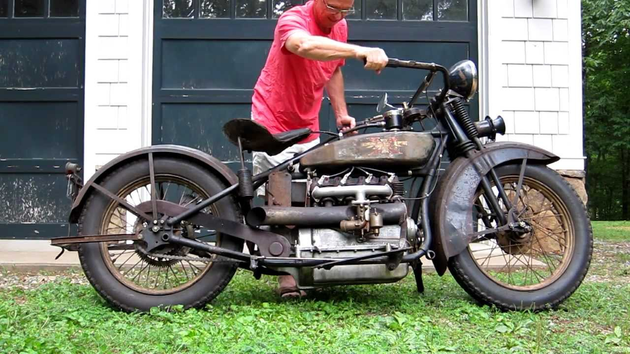 1928 henderson deluxe antique motorcycle running for Vintage motor cycles for sale