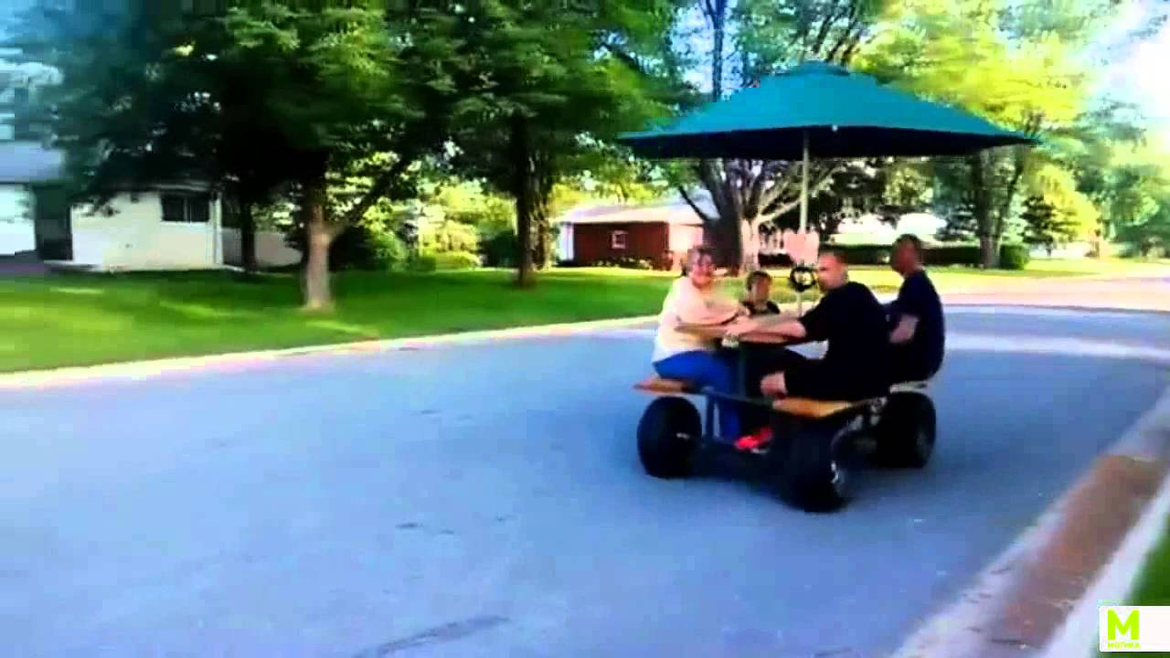 Motorized PICNIC Table Does WHEELIES Legendary Motorcycles - Motorized picnic table for sale