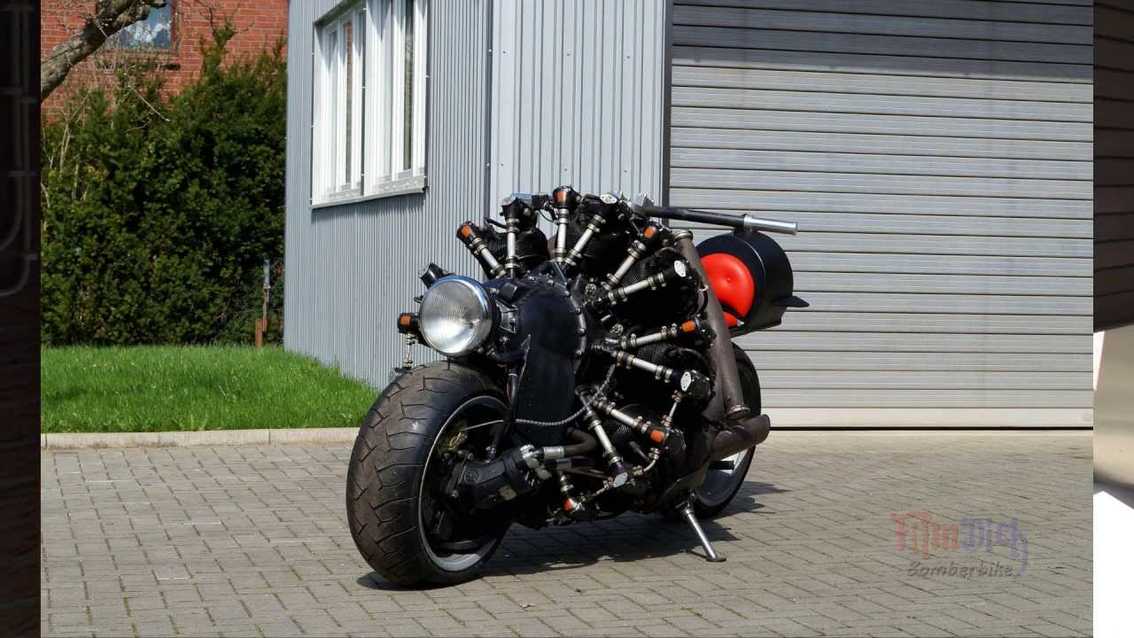 This One Of A Kind Project Bomberbike Runs Off Of A
