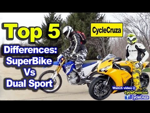 5 Major Differences Between Super Sport Bikes  Dual Sport